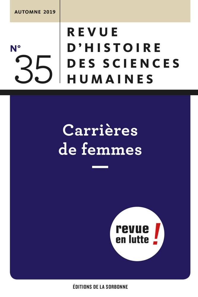 Revue d'histoire des sciences humaines, n° 35 :