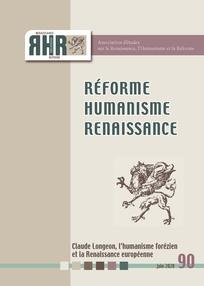 Réforme, Humanisme, Renaissance, n° 90,