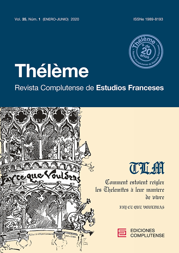 Thélème. Revista Complutense de Estudios Franceses, n° 35.1: