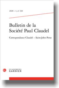 Bulletin de la Société Paul Claudel ,n° 230, 2020-1, Correspondance Claudel ‒ Saint-John Perse