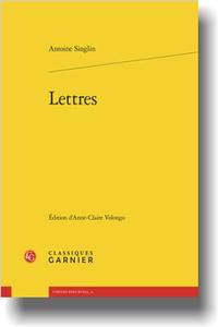 A. Singlin, Lettres (Anne-Claire Volongo, éd.)