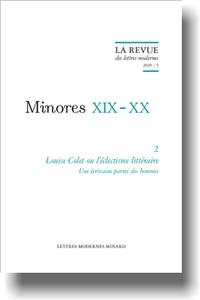 Louise Colet ou l'éclectisme littéraire, 2020-5, Une écrivaine parmi des hommes (Revue des lettres modernes)