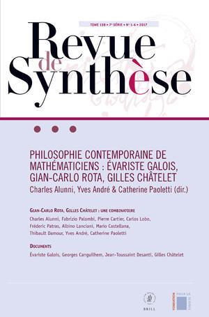 Revue de synthèse, n° 140/3-4: