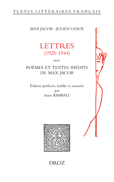 M. Jacob, J. Lanoë, Lettres (1925-1944)
