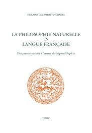 V. Giacomotto-Charra, La philosophie naturelle en langue française