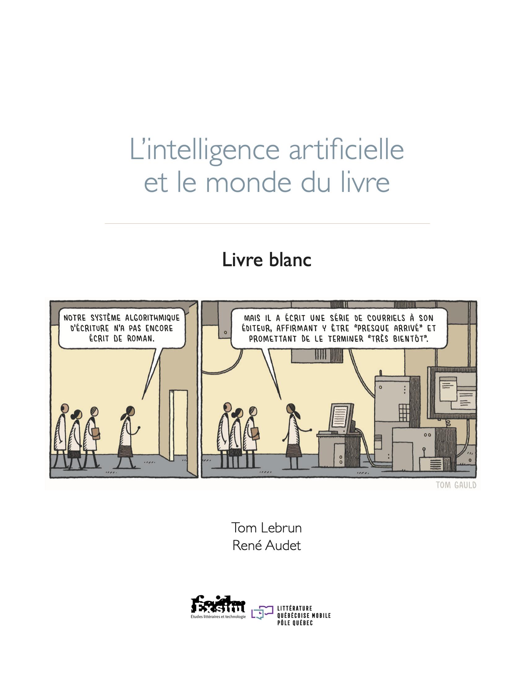 L'intelligence artificielle et le monde du livre. Livre blanc