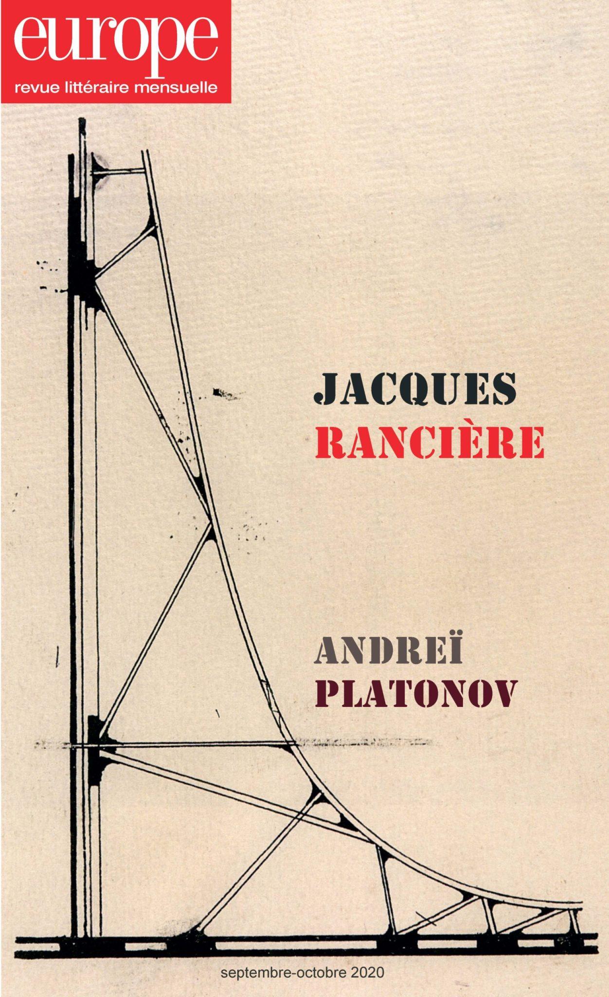 Europe, n° 1097-1098 : Jacques Rancière – Andreï Platonov