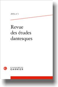 Revue des études dantesques, 2019, n° 3 : Varia