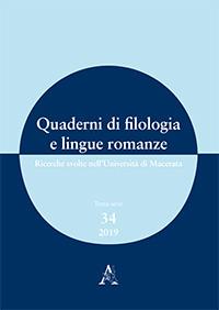 Quaderni di filologia e lingue romanze, n° 34