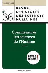 Revue d'histoire des sciences humaines, 36 :
