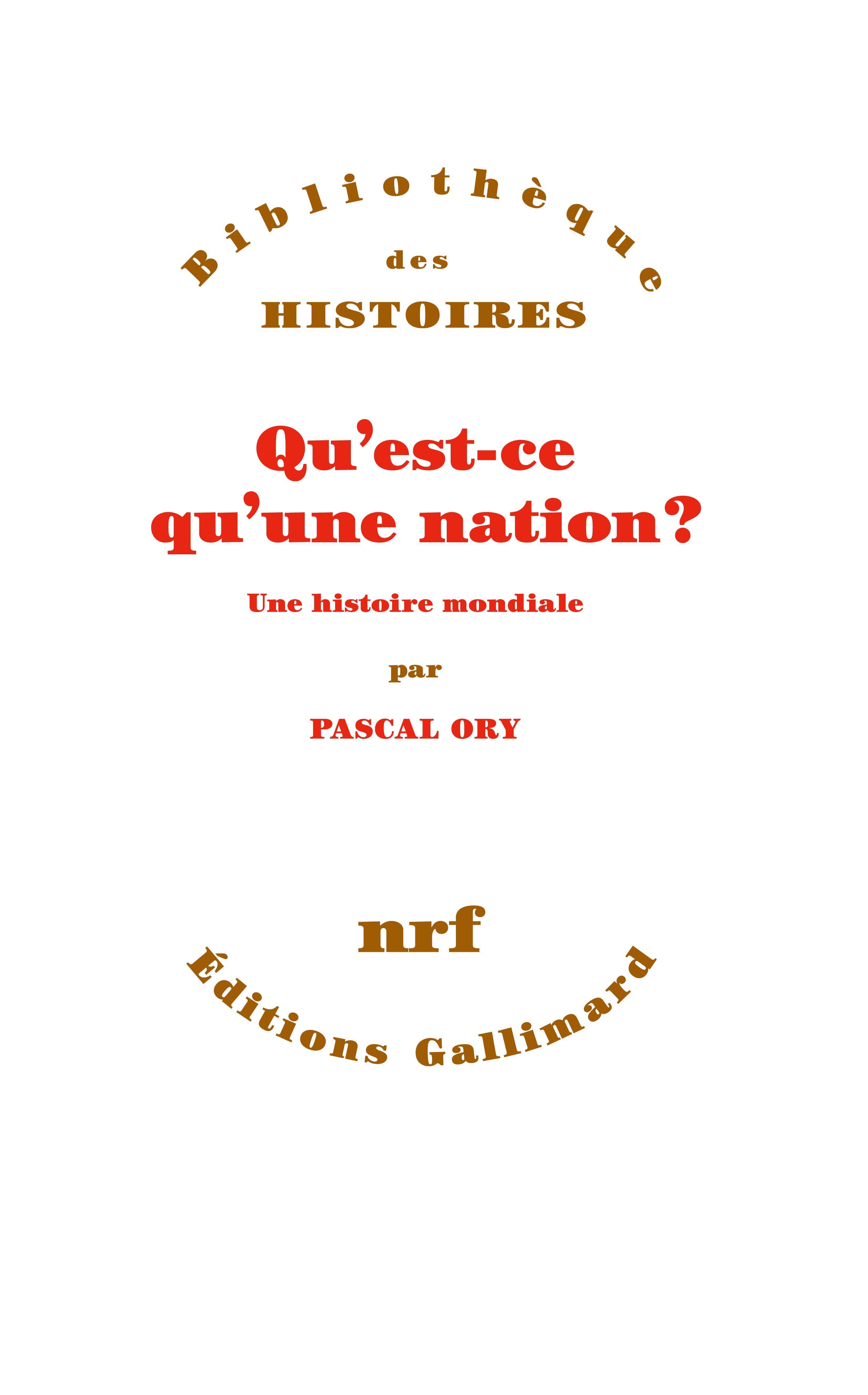 P. Ory, Qu'est-ce qu'une nation ?