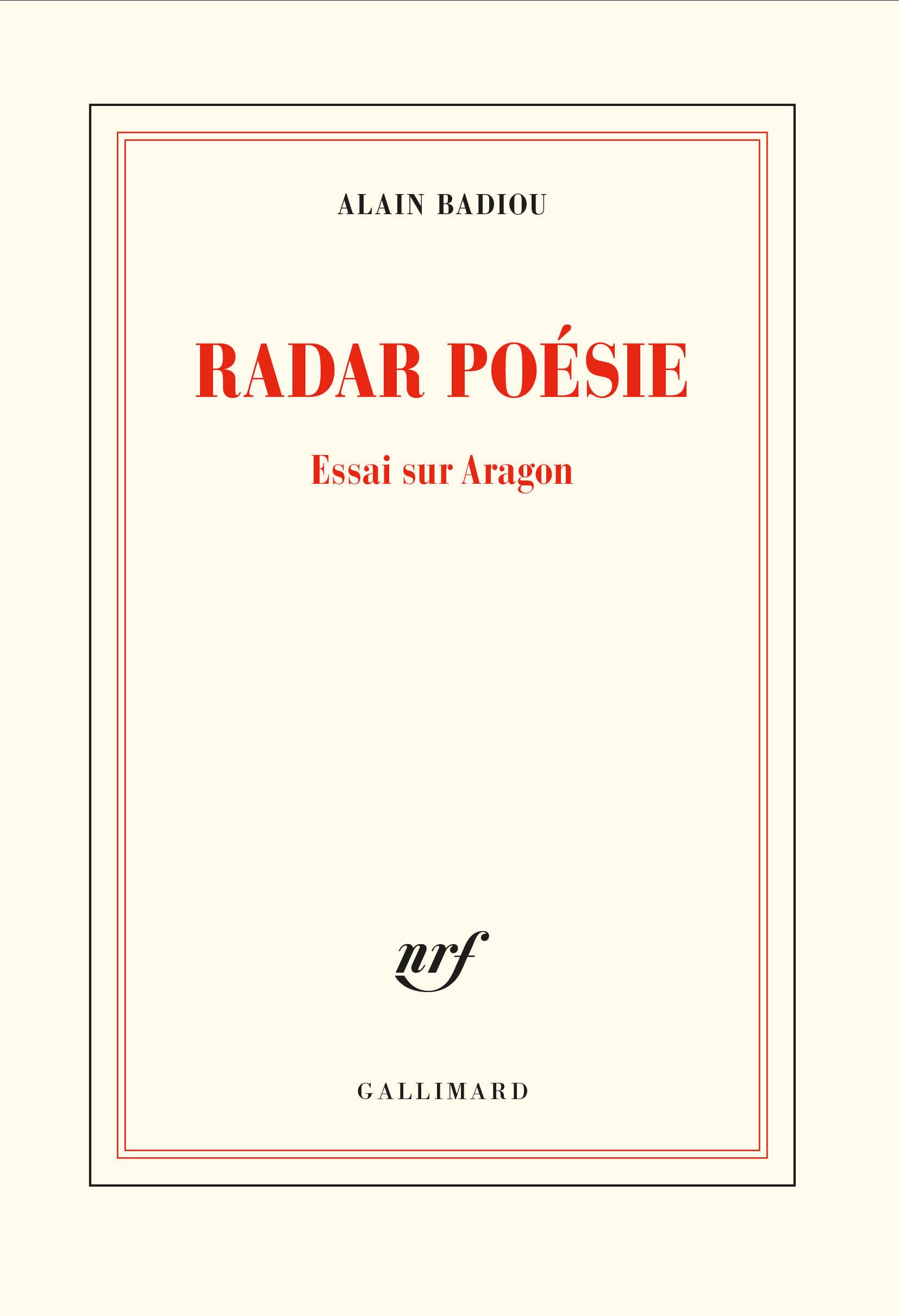 A. Badiou, Radar poésie. Essai sur Aragon