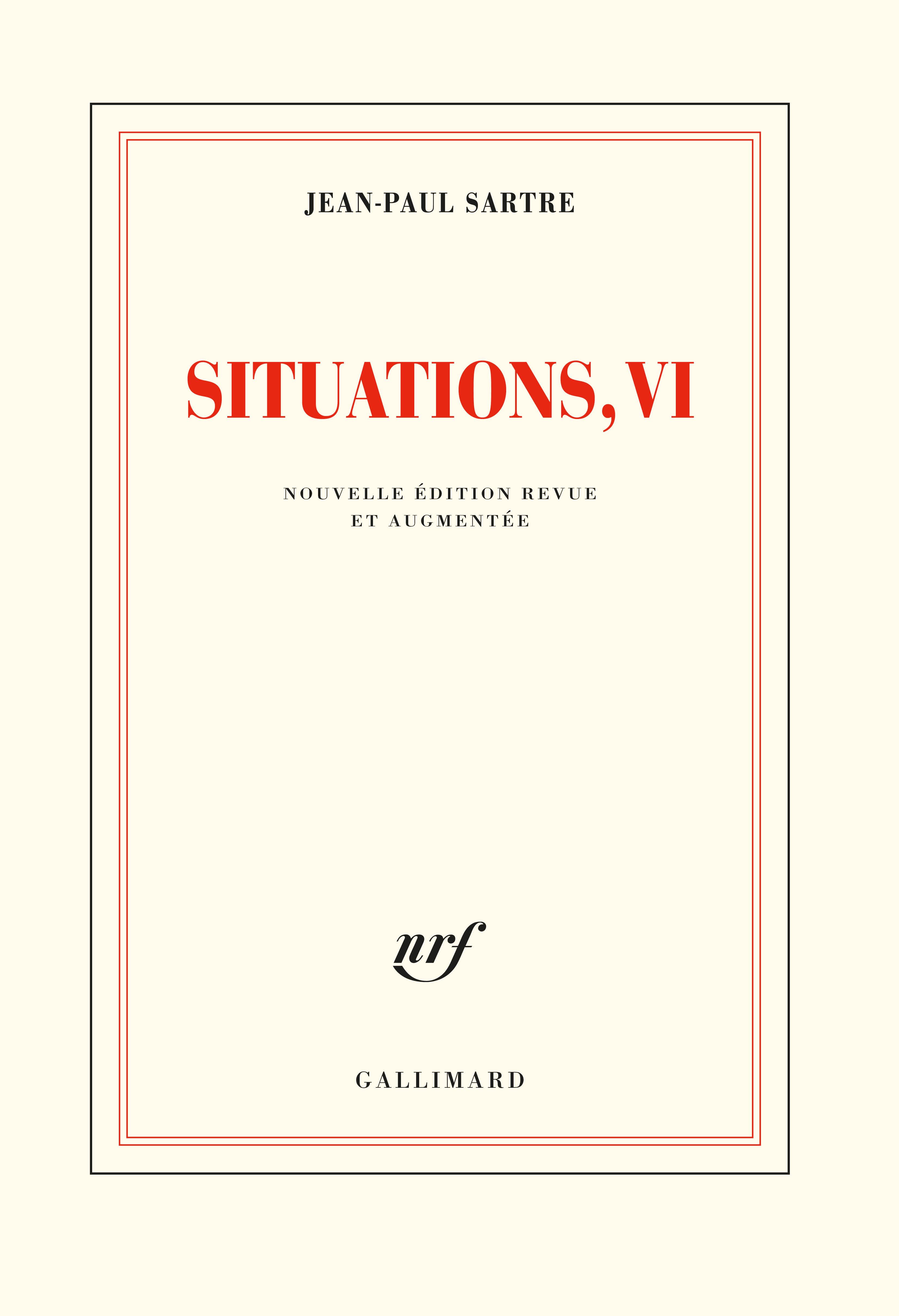 Sartre, Situations VI (nouvelle éd.)