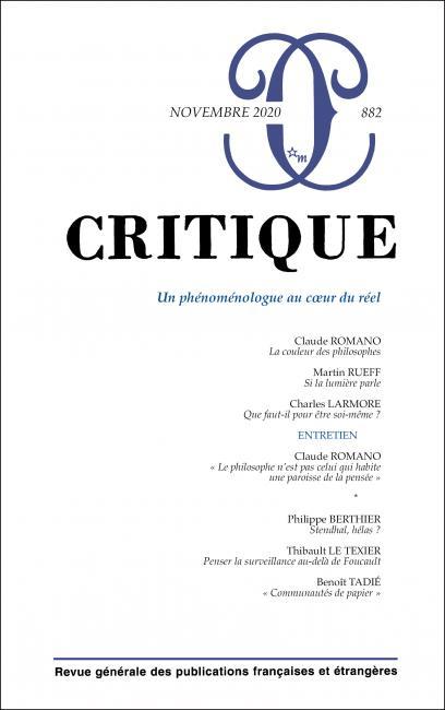 Critique, n° 882 :