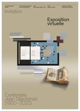 Centenaire Jean Starobinski (1920–2020). Vernissage de l'exposition virtuelle (Bibliothèque nationale suisse, en ligne)