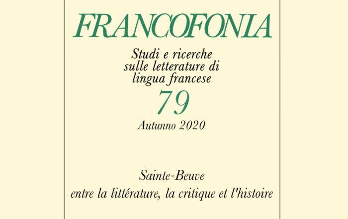 Francophonia, n° 79 :