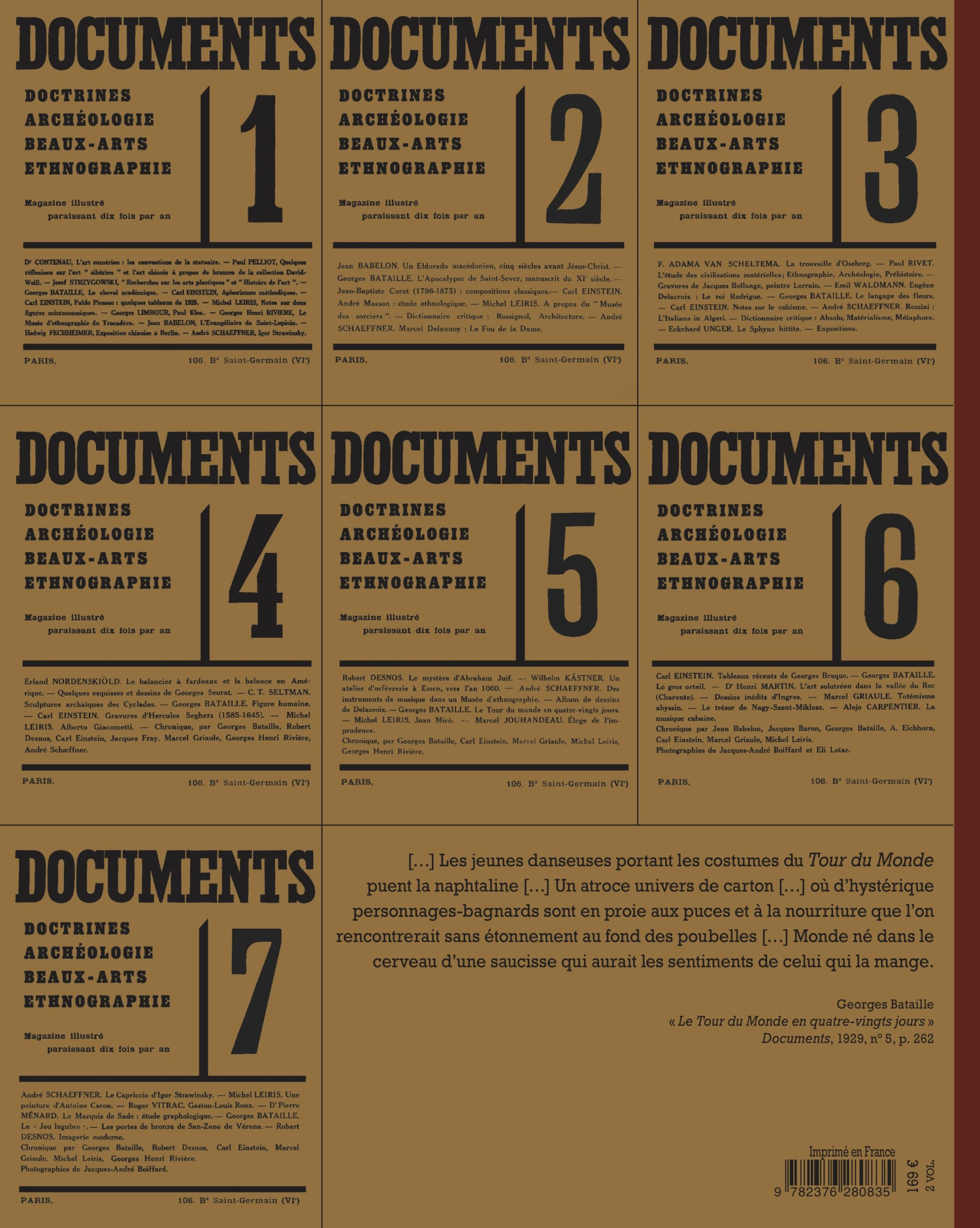 Documents (1929-1931), 2 vol. en fac-similé
