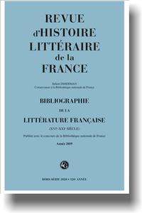 Bibliographie de la littérature française 2020, Année 2019, varia