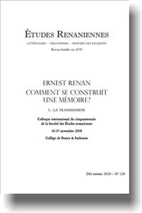 Études renaniennes, n° 120: