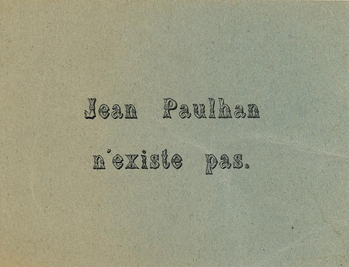 Jean Paulhan existe bien