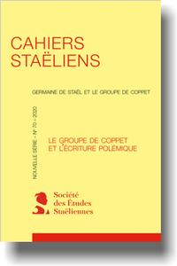 Cahiers Staëliens, n° 70 :