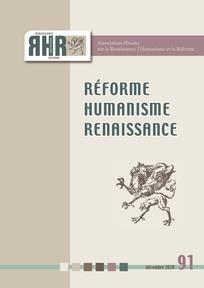 Réforme, Humanisme, Renaissance, n° 91, 2020-2