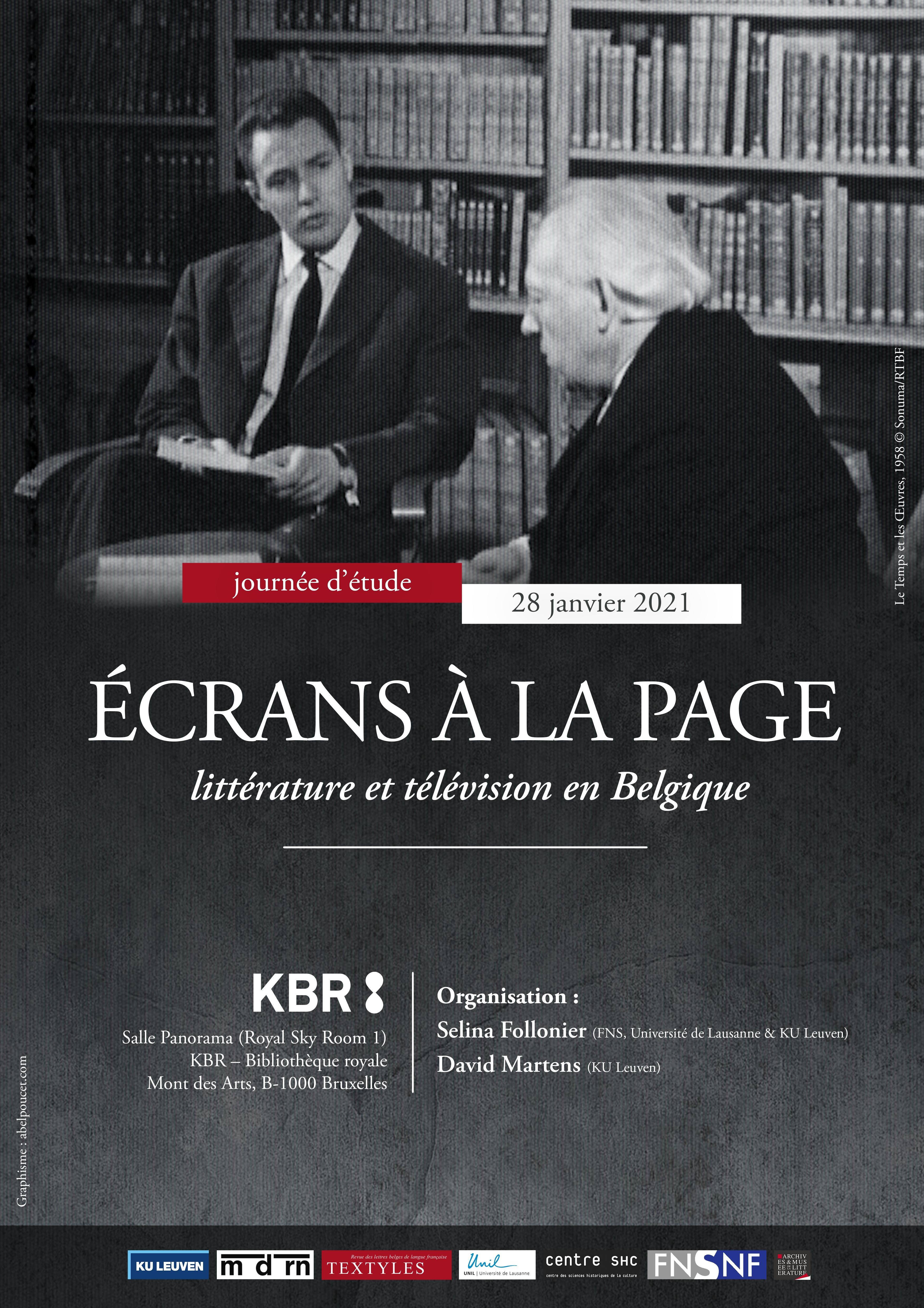 Écrans à la page. Littérature et télévision en Belgique - Journée d'études - 28 janvier