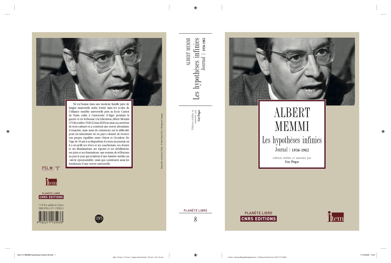 Albert Memmi, Les Hypothèses infinies. Journal 1936-1962 (éd. G. Dugas)