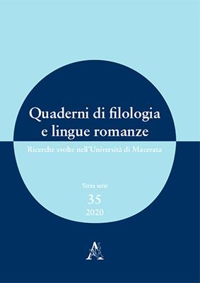 Quaderni di filologia e lingue romanze, n° 35