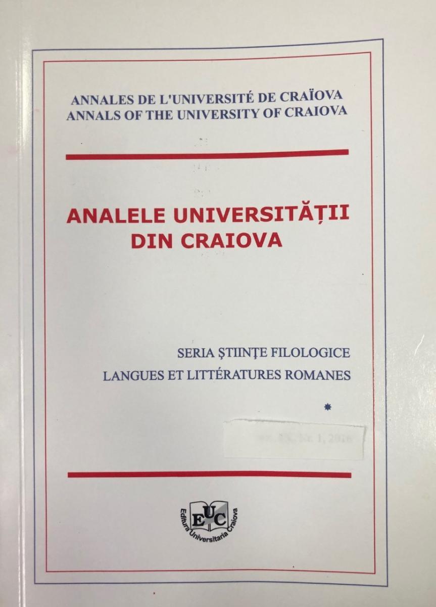 Analele Universităţii din Craiova. Seria Științe filologice. Langues et Littératures Romanes