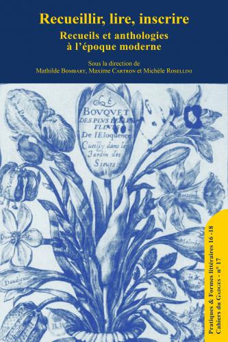 Recueils et anthologies à l'époque moderne
