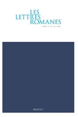 Les Lettres Romanes, vol. 74, n°3-4