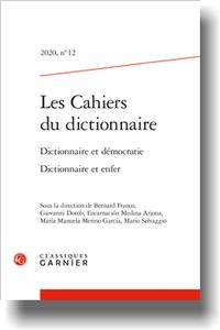 Les Cahiers du dictionnaire, n° 12 :