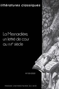 Littératures classiques, n° 103: