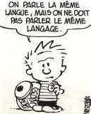 La langue française n'est pas la langue française